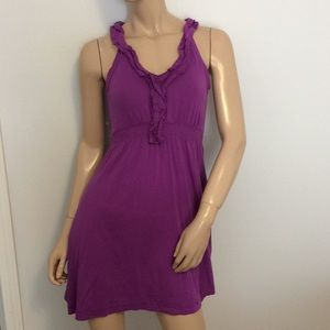 Purple Banana Republic XS ruffle dress extra small